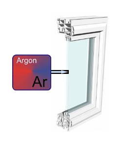 argon gas filled windows