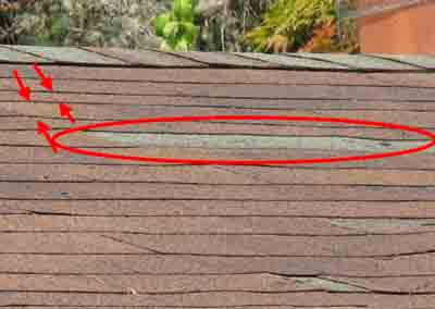 missing shingles on Bothell home
