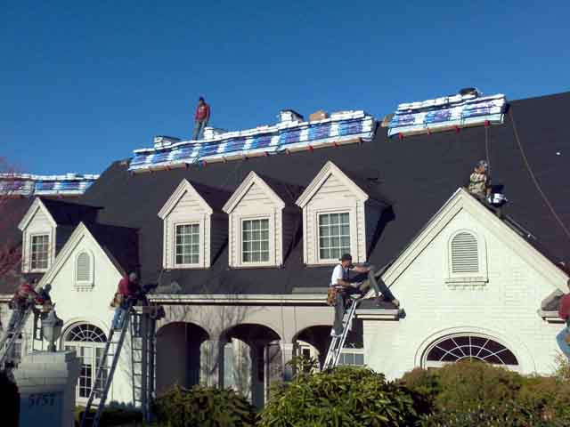 reroofing a Bothell home