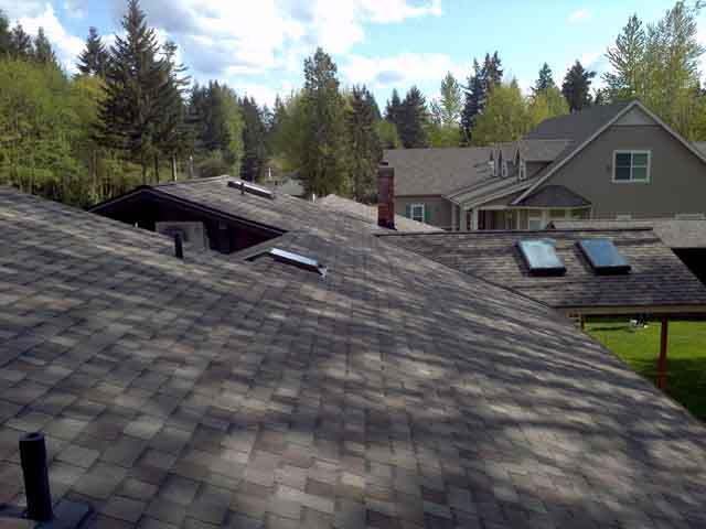 new composite asphalt roof