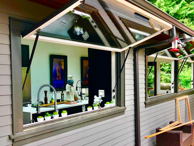 three awning windows